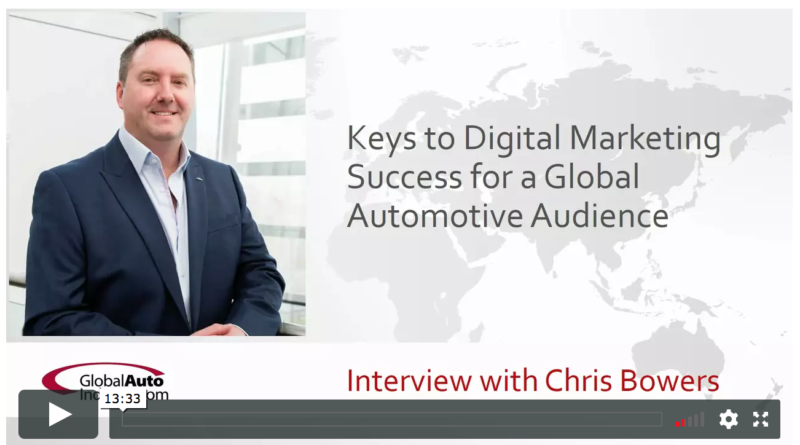 Digital marketing for a global automotive audience