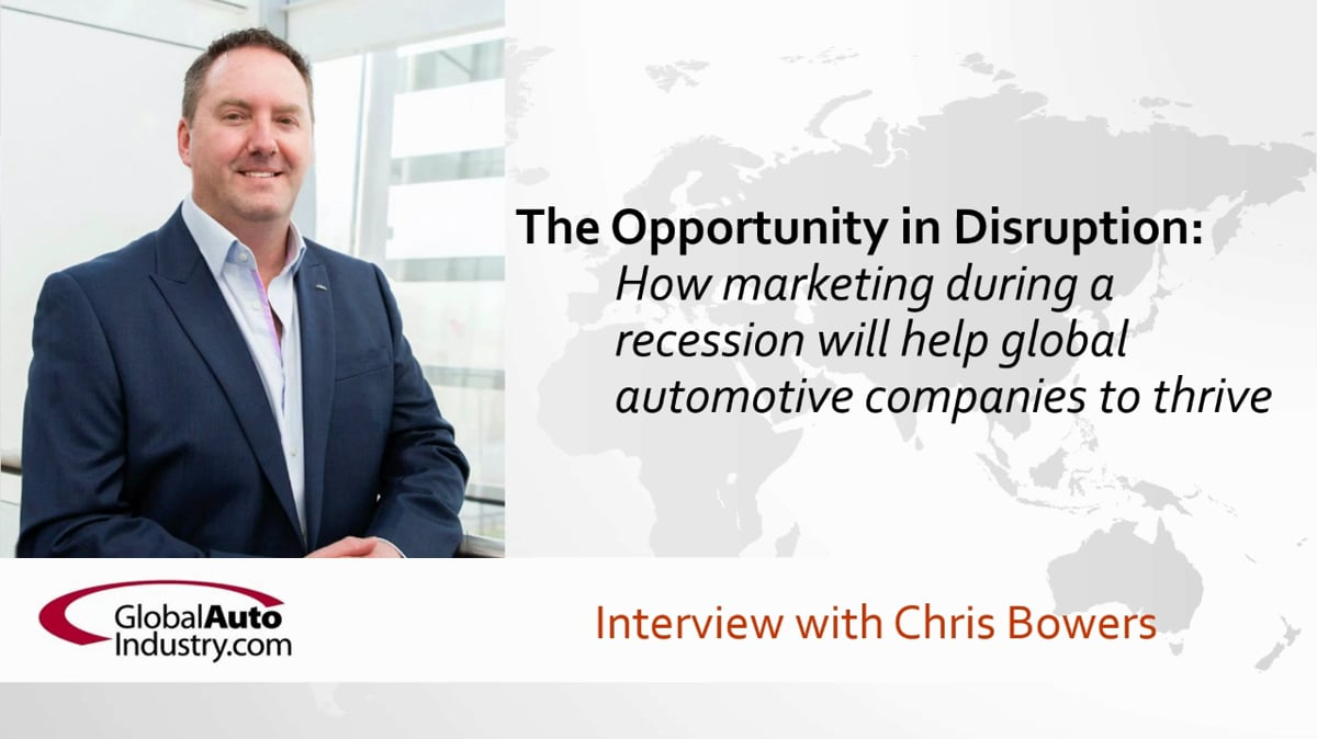 Opportunity in disruption of the automotive supply chain