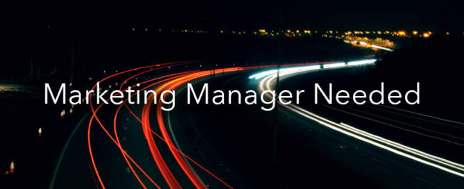 We're hiring! Looking for a marketing manager
